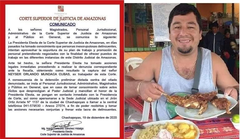 Detienen a hermano de Fiscal Provincial de Jaén por ofrecer puestos de  trabajo en el Poder Judicial